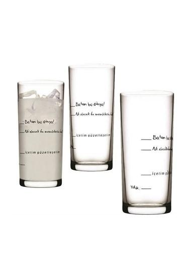 Paşabahçe İçelim Güzelleşelim 6lı Rakı Bardağı Renksiz